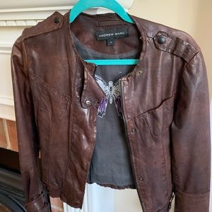 Andrew Marc Women's Leather Jacket ( Real Leather)